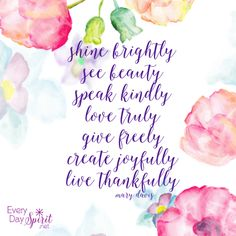 Plant the seeds of goodness. #joy #love For the app of beautiful wallpapers ~ www.everydayspirit.net xo