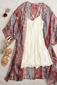 Shopping For The Running Shoes For Women, Summer Outfits, AEO Lace Cross-Back Dress, Cream Make a summer statement in Mode Outfits, Casual Outfits, Fashion Outfits, Womens Fashion, Fashion Clothes, Fashion Trends, Teen Outfits, Dress Clothes, Unique Outfits