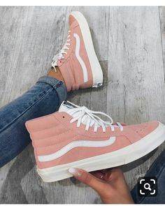 1ae5e0e7eb White   Peach girly Vans Old School are a stylish