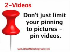 6 Ways To Use Pinterest To Brand Your Small Business  http://www.youtube.com/watch?v=0I5_MEv3HzQ