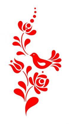 Bauernmalerei Silhouette bird
