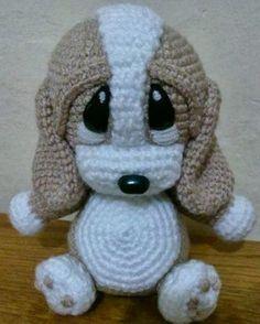 Маленькая собачка Тёпа, связанная крючком. Описание вязания собачки.