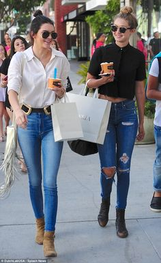 Kendall Jenner and Gigi Hadid in LA - July 31, 2015