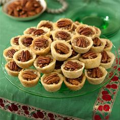My favorite recipe for Pecan Tartlets. Butter Pecan Tartlets Recipe from Land O'Lakes Köstliche Desserts, Delicious Desserts, Dessert Recipes, Yummy Food, Yummy Eats, Fun Food, Mini Pecan Tarts, Pecan Pies, Sweets