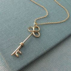 Trefolis Key Necklace in 14k gold filled by Laladesignstudio