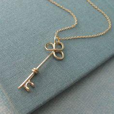 Trefolis Key Necklace in 14k gold filled by Laladesignstudio