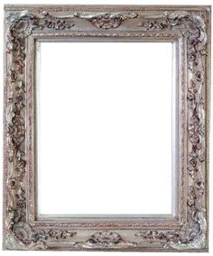 Watkins Narrow Baroque Antique Silver Leaf Frame