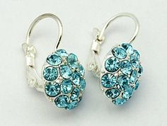 Alloy Earrings, with Grade A Rhinestone