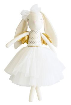 ALIMROSE ANGEL BUNNY GOLD A most beautiful gift. Alimrose Angelic Bunnies are adorable and so pretty. Suitable from and a gorgeous nursery decor piece unti Houndstooth Fabric, Gold Angel Wings, Little Unicorn, Tulle Tutu, Kids Branding, Baby Online, Newborn Gifts, Baby Boutique, Design Crafts