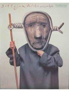 Polish Bethlehem. Kunstenaar : Stasys Eidrigevicius. Een uitgave van 1990. Afmeting poster : 85 x 67