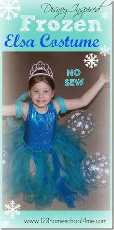Disney Frozen Inspired No Sew Elsa Costume for Kids
