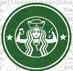 Starbucks Nurse SVG File.  Starbucks Nurse Cut by SVGDesignTime