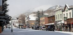 First snow of 2012 in downtown Crested Butte