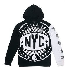 NBA UNK BKN-NYK logo graphic hoodie All star logos  - that should be mine!