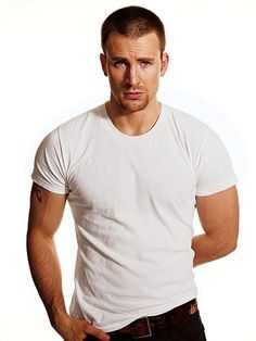 Chris Evans. They don't get much sexier than this guy.