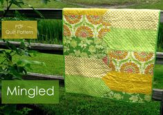 PDF quilt pattern - Mingled - baby quilt