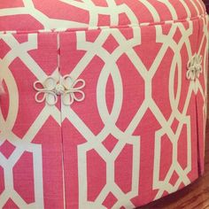 upholstered pouf - Samuel and Sons Passementerie
