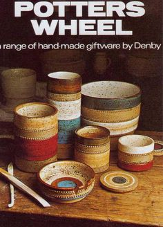 David Yorath for Denby Large Pottery Bowl Ashtray Catchall