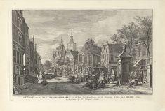 Gezicht op de Kleine Groenmarkt te Den Haag, 1764, Paulus Constantijn la Fargue, 1764