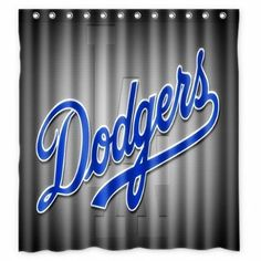 60 x72 inches los angeles dodgers shower curtain for bathroom