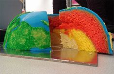 Earth Structural Layer Cake (I could do the baking easily and the water layer, but not too hopeful about the land.)