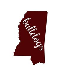 Bulldogs cutout Car Decal by Rebecca Lane Graphics on Etsy!