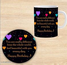 Accessories Elegant Printed Ceramic Coffee Mug   *Material* Mug - Ceramic, Coaster - MDF  *Capacity* Mug - 350 ml, Coaster - 9 cm  *Description* It Has 1 Piece Of Mug With 1 Piece Of Coaster  *Work* Printed  *Sizes Available* Free Size *   Catalog Rating: ★4.3 (1301)  Catalog Name: Beautiful Elegant Printed Ceramic Coffee Mugs With Coaster CatalogID_759969 C127-SC1621 Code: 581-5148956-