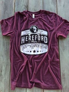 Lazy J Ranch Wear Hereford Mafia Tri-Blend Shirt (Maroon)