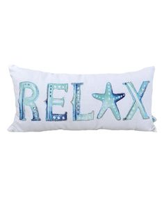 Look what I found on #zulily! Blue 'Relax' Throw Pillow #zulilyfinds