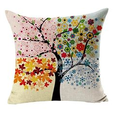 Baumwolle - nur Kissenhülle - vier Jahreszeiten-Kissen. Für Küchenbank oder im Schlafzimmer. Partnerlink.