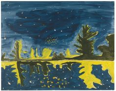 Peter Doig (Scotland b. 1959) Untitled (Study for Milky Way) 1989-1990 oil on paper 57.4 x 72.6 cm