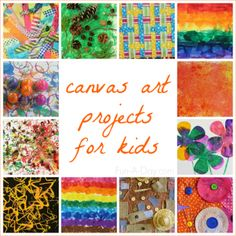 12 canvas art ideas for kids - a fun way for kids to explore and display art