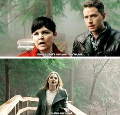 If Gold did to me what he did to Hook, I'd want to shove that dagger through his heart too. #CaptainSwan - She's protecting her Killian #4x15 #ouat