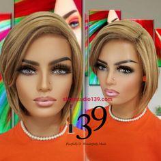 (Monica) BoB cut wig with side part and bangs – Shopstudio139 Blonde Bob Wig, Blonde Bobs, Bob Cut Wigs, Blonde With Dark Roots, Black Bob, Bangs, Hair Color, Ash, Sexy