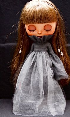 A personal favorite from my Etsy shop https://www.etsy.com/listing/469523668/ghost-girl-dress-for-blythe-dolls