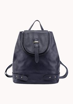 198494196d9 Mumbo Grained Leather Backpack Dark Blue Rucksack Bag, Backpack Purse,  Leather Backpack, Leather
