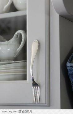 Handgreep van oude vork