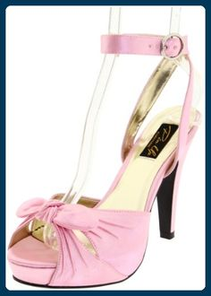 Sexy Elegante High Heel Sandaletten mit Mini-Plateau BETTIE-04, B. Pink Satin, 38 - Damen pumps (*Partner-Link)