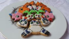 DIGIMON Cookies with royal icing without kopykake by Noey's Cookies