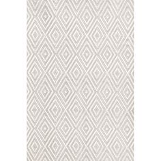 Dash and Albert Rugs Diamond Taupe & White Indoor/Outdoor Area Rug