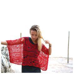 Sheer Short Sleeve Sweater by munamiu on Etsy, $63.00