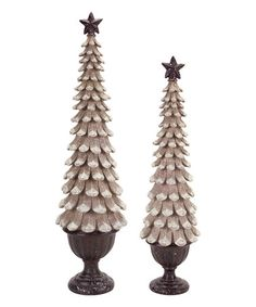 Pinecone Christmas Tree Décor Set #zulily #zulilyfinds