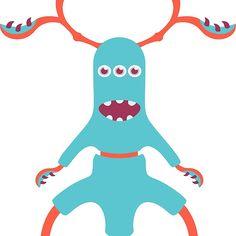 'Cute Three Legged Monster' by bicone