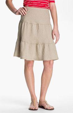 Allen Allen Tiered Linen Skirt | Nordstrom