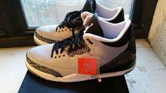 Air Jordan 14 Retro Sneaker Wolf Grey/sort Blue-cl gray-white 487471004 #airJordanGreyWolf #487471004