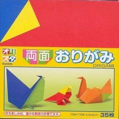 "35s Origami Folding Paper (Double Sided) by Kyowa. $5.30. Made In Japan. 35 sheets in a pack. Fit for children over three years old. Double sided, more than ten kinds of solid colors. Size:6"" x 6"". This origami set comes with 35 sheets (Double sided)in the package. it is fun to play origami paper with friends, kids."