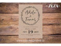 Svatební oznámení no.105 - Zuzadesignstore.cz Wedding, Design, Art, Valentines Day Weddings, Art Background, Weddings, Kunst, Performing Arts, Mariage