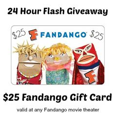 Enter to WIN a $25 Fandango Gift Card! 6/27 Only #MissionGiveaway