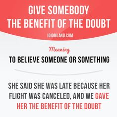 """""""Give somebody the benefit of the doubt"""" - Learn and improve your English language with our FREE Classes. Call Karen Luceti 410-443-1163 or email kluceti@chesapeake.edu to register for classes. Eastern Shore of Maryland. Chesapeake College Adult Education Program. www.chesapeake.edu/esl."""