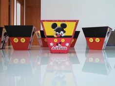 Cachepô Mickey e Minnie Disney IV